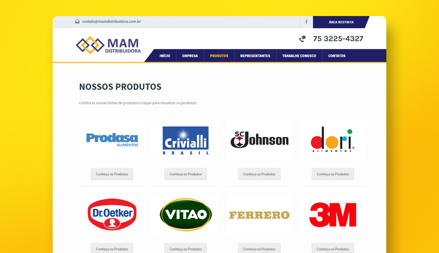 Cliente MAM Distribuidora