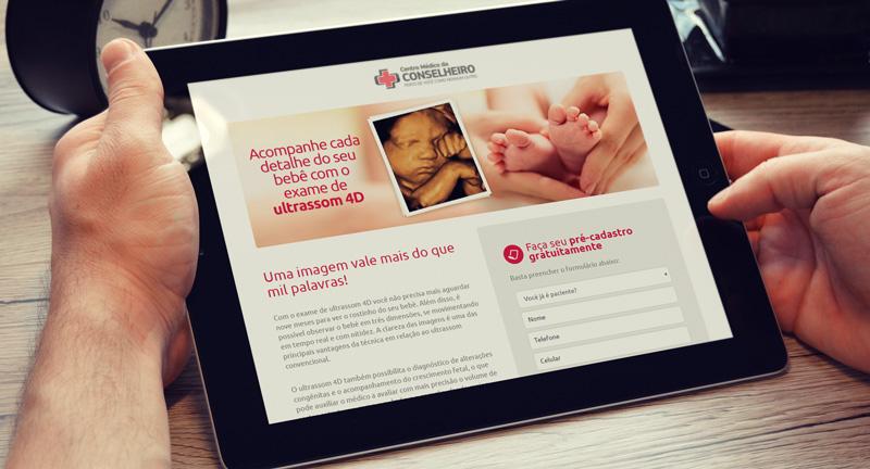 Landing Page Ultrassom 4D Centro Médico da Conselheiro